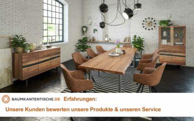 Baumkantentische Erfahrungen: Unsere Kunden bewerten unsere Produkte & unseren Service